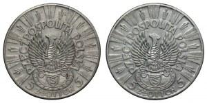 II RP - set 2 sztuk 5 złotych 1934 - Piłsudski Strzelecki