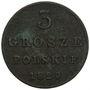 Królestwo Polskie - 3 grosze polskie Warszawa 1829 FH
