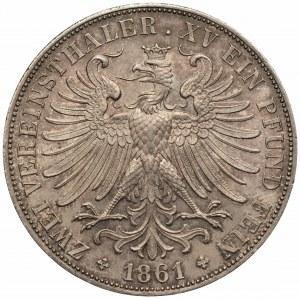 NIEMCY - Frankfurt - dwutalar 1861
