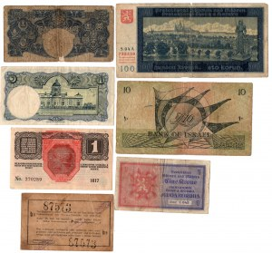 SET 7 sztuk Banknoty Świat
