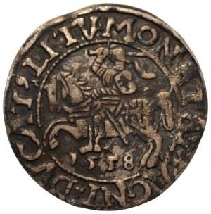 Zygmunt II August (1545-1572) - półgrosz 1558 L/LITV