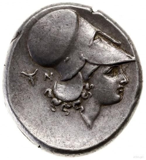 Stater, 345–307 pne; Aw: Pegaz lecący w lewo, poniżej z...