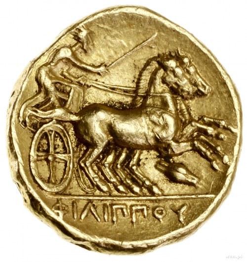 Stater, 340–328 pne, mennica Amfipolis; Aw: Głowa Apoll...