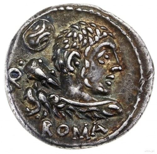 Denar, 100 pne, mennica Rzym; Aw: Popiersie Herkulesa w...