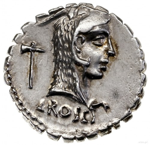 Denar serratus, 64 pne, mennica Rzym; Aw: Głowa Junony ...