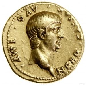 Aureus, 57–58, mennica Rzym; Aw: Głowa cesarza w prawo,...