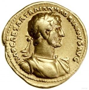 Aureus, 118, mennica Rzym; Aw: Udrapowane popiersie ces...