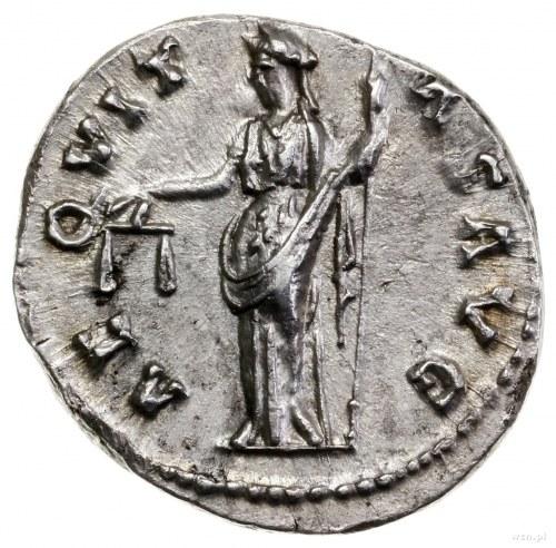Denar, 140–143, mennica Rzym; Aw: Głowa cesarza w prawo...