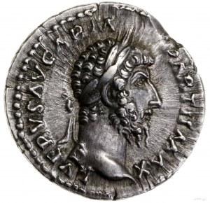 Denar, 165–166, mennica Rzym; Aw: Głowa cesarza w prawo...