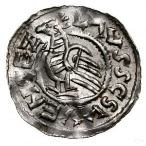 Denar, przed 1050, mennica Praga; Aw: Popiersie księcia...