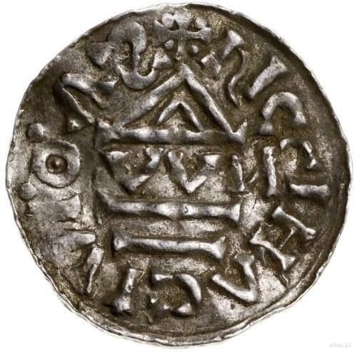Denar, 1002–1009, mennica Ratyzbona, mincerz Viga; Aw: ...