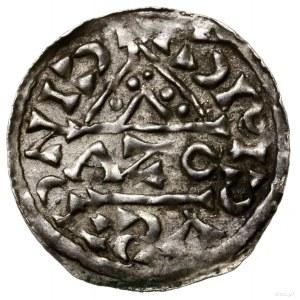 Denar, 1018–1026, mennica Ratyzbona, mincerz Aza; Aw: D...