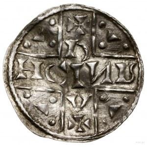 Denar, 1018–1026, mennica Ratyzbona, mincerz Oc; Aw: Dw...