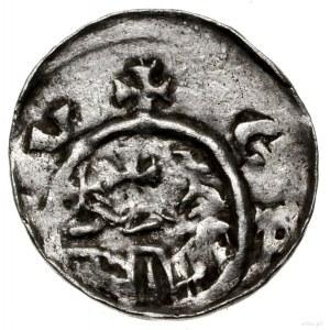 Denar, 1081–1102, mennica Kraków; Aw: Głowa władcy w le...
