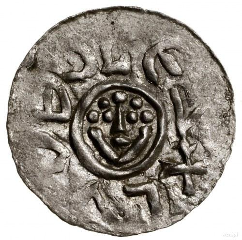 Denar, przed 1107, mennica Wrocław; Aw: Głowa z perełko...