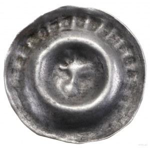 Brakteat, początek XIV w.; Popiersie Orła w prawo, w ko...