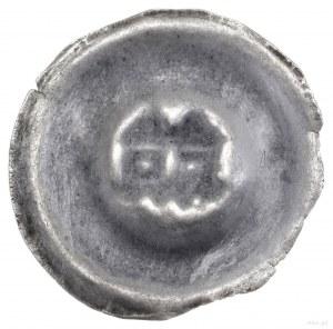 Brakteat, ok. 1305–1320; Dwie wieże o stożkowych dachac...