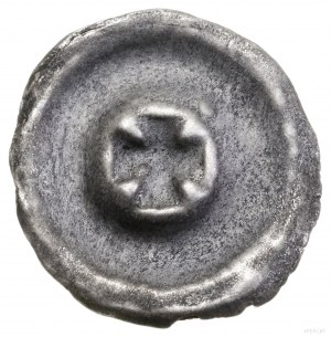 Brakteat, Ićwierć XIV w., mennica Jędrzejów; Krzyż kaw...