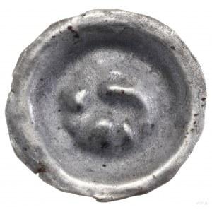 Brakteat, XIII/XIV w.; Jeleń kroczący w prawo; BRP Kroc...