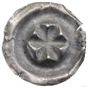 Brakteat, XIII/XIV w.; Sześciopłatkowa rozeta; BRP Kroc...