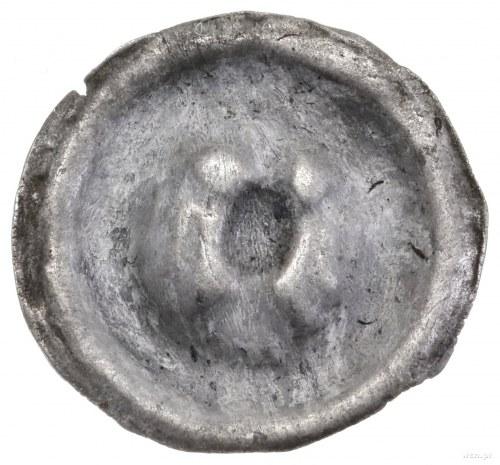 Brakteat, XIII/XIV w.; Orzeł heraldyczny w prawo bez ko...