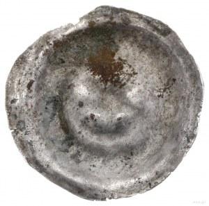Brakteat, XIII–XIV w.; Sześciopromienna gwiazda, niżej ...