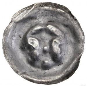 Brakteat, XIII–XIV w.; Łuk, na którym wieża z jednym ok...