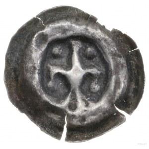 Brakteat, II połowa XIII w.; Trzypłatkowa lilia, której...