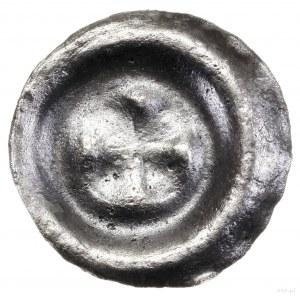Brakteat, XIII–XIV w.; Czteropłatkowa rozeta, płatki pr...