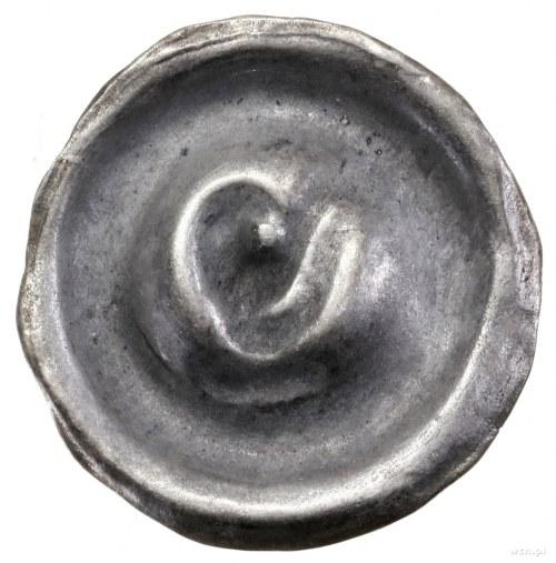 Brakteat zredukowany, IV ćwierć XIII w.; Głowa orła w l...