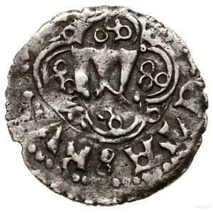 Kwartnik ruski, 1376–1378, mennica Lwów; Aw: Litera W, ...