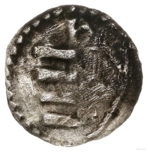 Denar, 1384–1386, mennica Kraków; Aw: Orzeł heraldyczny...