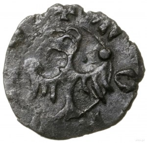 Halerz, 1381–1405, mennica Racibórz; Aw: Teksturowa lit...