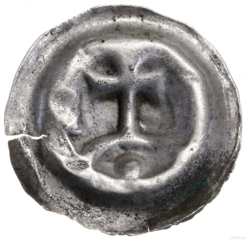Brakteat, ok. 1277/1278–1287/1288; Krzyż stojący na łuk...
