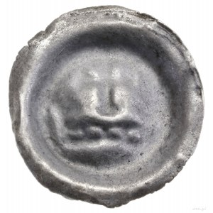 Brakteat, ok. 1287/1288–1307/1308; Korona z dwoma fleur...