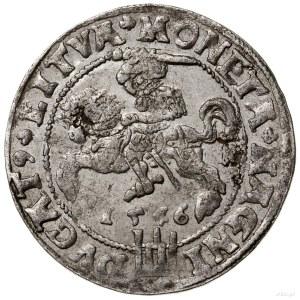 Grosz na stopę litewską, 1546, mennica Wilno; Aw: Głowa...