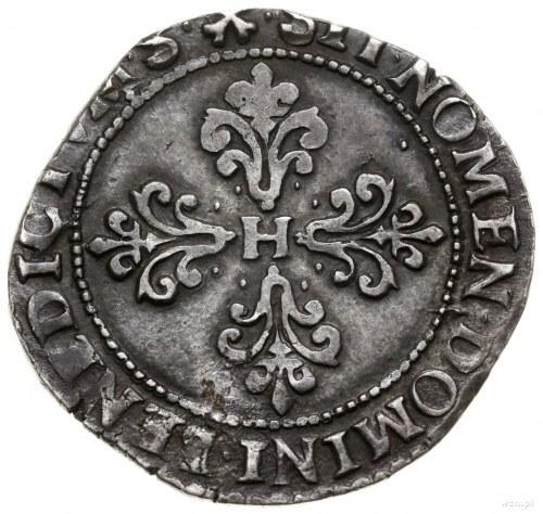 1/2 franka, 1589 M, mennica Tuluza; data w otoku; Duple...