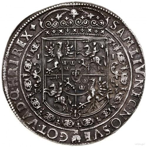 Talar, 1628, mennica Bydgoszcz; Aw: Półpostać króla z s...