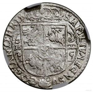 Ort, 1622, mennica Bydgoszcz; końcówka legendy awersu P...