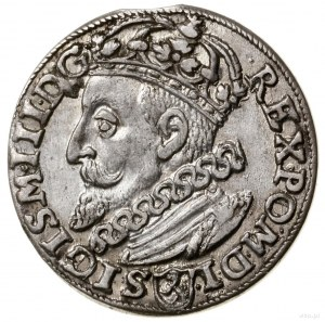 Trojak, 1600, mennica Kraków; popiersie króla w lewo; I...