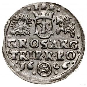 Trojak, 1606, mennica Kraków; u dołu pełna data rozdzie...
