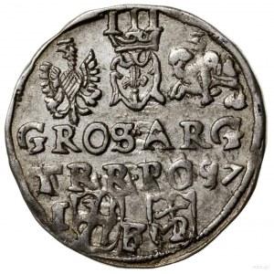 Trojak, 1597, mennica Lublin; kryza rurkowata prosta, k...