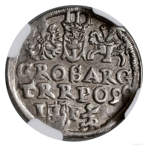 Trojak, 1598, mennica Lublin; na rewersie monogram MR (...