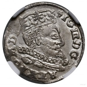 Trojak, 1598, mennica Lublin; na rewersie litera L z le...