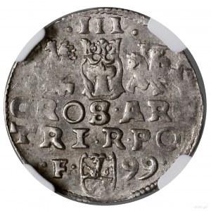 Trojak, 1599, mennica Wschowa; kryza wachlarzowata; Ige...
