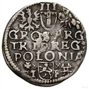 Trojak, bez daty (1595), mennica Wschowa; herb Lewart n...