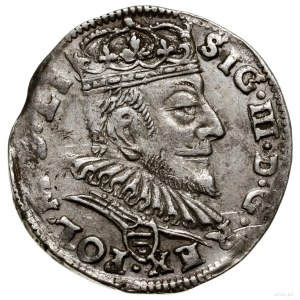 Trojak, 1589, mennica Wilno; odmiana z herbem Korczak (...