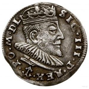 Trojak, 1589, mennica Wilno; herb Chalecki (podskarbieg...