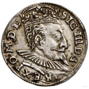 Trojak, 1596, mennica Wilno; mała głowa króla, nominał ...