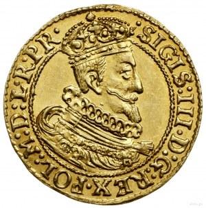Dukat, 1629, mennica Gdańsk; Aw: Popiersie króla w koro...
